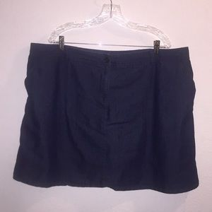 White Stag Jean Skirt With Built in Shorts 22W